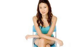 Modelo asiático Fotografia de Stock Royalty Free