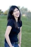 Modelo asiático de risa Foto de archivo libre de regalías