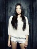 Modelo asiático novo bonito Imagem de Stock