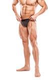 Modelo atlético forte Torso da aptidão do homem que mostra b muscular despido Imagem de Stock Royalty Free