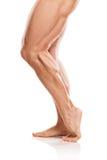 Modelo atlético forte Torso da aptidão do homem que mostra muscular despido Fotografia de Stock