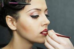 Modelo atractivo hermoso, maquillaje del partido de la noche de la moda Imágenes de archivo libres de regalías