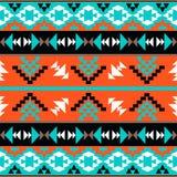 Modelo azteca colorido inconsútil Foto de archivo libre de regalías