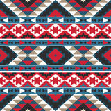 Modelo azteca colorido inconsútil Imagenes de archivo