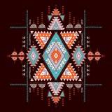 Modelo azteca geométrico El estilo tribal del tatuaje se puede utilizar para la materia textil, esteras de la yoga, cajas del tel Foto de archivo libre de regalías