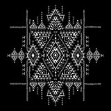Modelo azteca geométrico El estilo tribal del tatuaje se puede utilizar para la materia textil, esteras de la yoga, cajas del tel Fotos de archivo