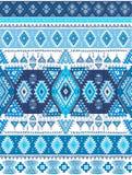 Modelo azteca geométrico El estilo tribal del tatuaje se puede utilizar para la materia textil, esteras de la yoga, cajas del tel Imagenes de archivo