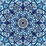 Modelo azul adornado ilustración del vector