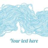 Modelo azul claro abstracto, ondas detrás libre illustration