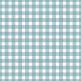 Modelo azul claro y blanco de la guinga del ladrillo refractario Textura de los cuadrados para - la tela escocesa, manteles, ropa ilustración del vector