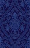 Modelo azul con damasco stock de ilustración