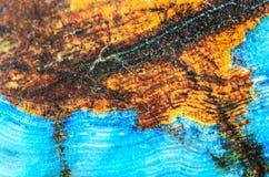 Modelo azul de la ágata de Brown Fotos de archivo
