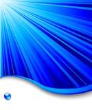 Modelo azul de la bandera - fondo del rayo Stock de ilustración