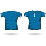 Modelo azul de la camisa de polo Imagen de archivo libre de regalías