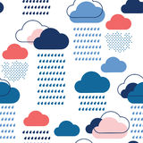 Modelo azul de la lluvia Foto de archivo libre de regalías