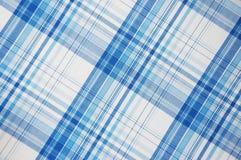 Modelo azul de la tela escocesa Imagenes de archivo