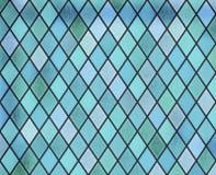 Modelo azul de la ventana del vitral del extracto libre illustration