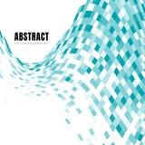 Modelo azul de los cuadrados de la turquesa de la onda del extracto con el espacio de la copia libre illustration