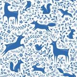 Modelo azul del bosque de la Navidad Imagen de archivo
