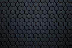 Modelo azul del hexágono de la fibra de carbono Fotos de archivo libres de regalías
