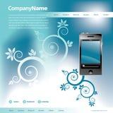 Modelo azul del Web site stock de ilustración