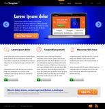 Modelo azul del Web site: Front Page libre illustration