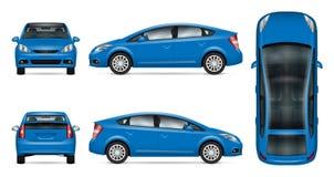 Modelo azul do vetor do carro ilustração stock