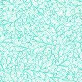 Modelo azul floral inconsútil con las hojas abstractas Imagenes de archivo