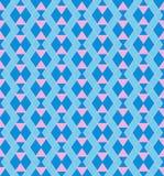 Modelo azul geométrico Imágenes de archivo libres de regalías