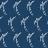 Modelo azul japonés del pájaro del trago ilustración del vector