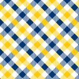 Modelo azul y amarillo de la guinga Textura del Rhombus/de los cuadrados para - la tela escocesa, manteles, ropa, camisas, vestid ilustración del vector