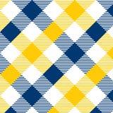 Modelo azul y amarillo de la guinga Textura del Rhombus/de los cuadrados para - la tela escocesa, manteles, ropa, camisas, vestid libre illustration