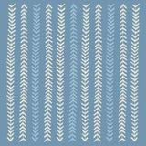 Modelo azul y blanco de las rayas inconsútil Imagen de archivo