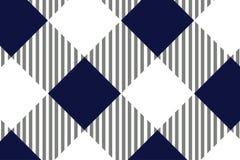 Modelo azul y blanco del mantel, textura del Rhombus/de los cuadrados para - la tela escocesa, manteles, ropa, camisas, vestidos, stock de ilustración