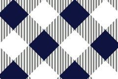 Modelo azul y blanco del mantel, textura del Rhombus/de los cuadrados para - la tela escocesa, manteles, ropa, camisas, vestidos, ilustración del vector