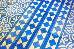 Modelo azul y blanco oriental fotografía de archivo