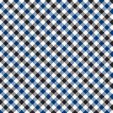 Modelo azul y negro de la guinga Textura del Rhombus/de los cuadrados para - la tela escocesa, manteles, ropa, camisas, vestidos, ilustración del vector