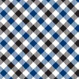 Modelo azul y negro de la guinga Textura del Rhombus/de los cuadrados para - la tela escocesa, manteles, ropa, camisas, vestidos, stock de ilustración