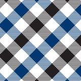 Modelo azul y negro de la guinga Textura del Rhombus/de los cuadrados para - la tela escocesa, manteles, ropa, camisas, vestidos, libre illustration
