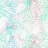 Modelo azul y rosado del grunge floral inconsútil Imagen de archivo