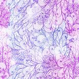 Modelo azul y violeta del grunge floral inconsútil Foto de archivo