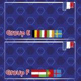 Modelo, banderas, fecha e información para el campeonato del fútbol libre illustration