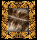 Modelo barroco de la serpiente de la mezcla imagen de archivo libre de regalías