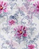 Modelo barroco de la textura con vector de las rosas Decoración del ornamento floral Diseño retro grabado victoriano Decoraciones stock de ilustración