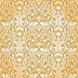Modelo barroco inconsútil Modelo de oro Fondo del vintage para la invitación, telas Ilustración del vector ilustración del vector