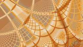 Modelo beige de oro de los gráficos del fondo del web del fractal de la araña en colores brillantes ilustración del vector