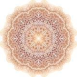 Modelo beige del círculo del garabato del vector del vintage adornado ilustración del vector