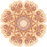 Modelo beige del círculo del garabato del vector del vintage adornado libre illustration