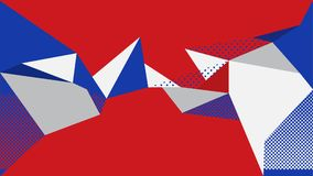 Modelo blanco azul rojo del fondo abstracto libre illustration