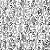 Modelo blanco con la línea hojas del arte ilustración del vector